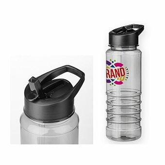 Obrázek produktu NELSON - plastová sportovní láhev, 750 ml, transp., frosty černá