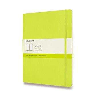 Obrázek produktu Zápisník Moleskine - měkké desky - XL, čistý, limetka