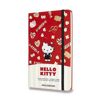 Obrázek produktu Zápisník Moleskine Hello Kitty - tvrdé desky - L, linkovaný, červený