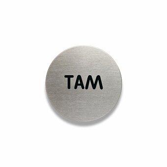 "Obrázek produktu Piktogram Durable Picto Round """"TAM"""" - průměr 65 mm"