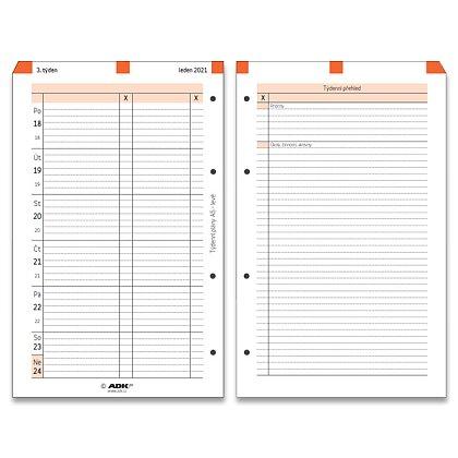 Obrázek produktu ADK - týdenní plány 2021 – A5, levé