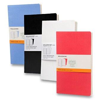 Obrázek produktu Zápisník Moleskine Volant - L, linkovaný, 2 ks, výběr barev
