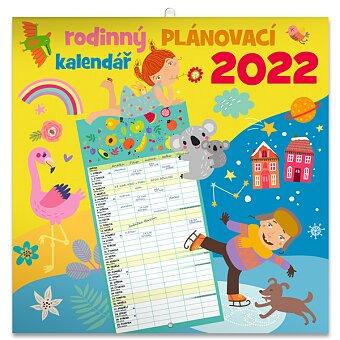 Obrázek produktu Rodinný plánovací kalendář 2022 - nástěnný kalendář
