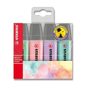 Obrázek produktu Zvýrazňovač Stabilo Boss Original Pastel - sada 4 barev