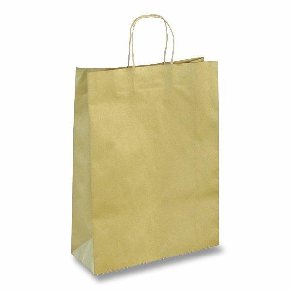 Dárková taška Ambar Kraft velikost L, mix barev