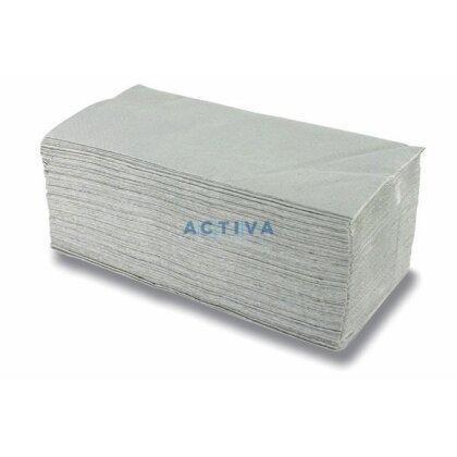 Obrázek produktu Cerepa - papírové ručníky - skládané - 1-vrstvé, 20 × 250 ks, šedé