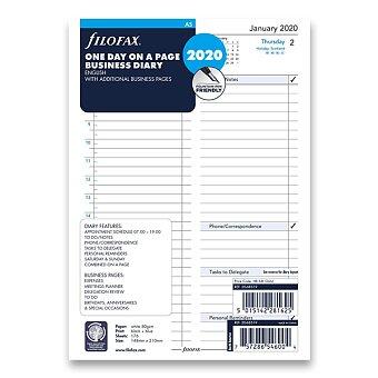 Obrázek produktu Denní kalendář 2020, Aj - náplň A5 diářů Filofax