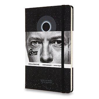 Obrázek produktu Zápisník Moleskine David Bowie - tvrdé desky - L, linkovaný, černý