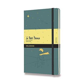 Obrázek produktu Zápisník Moleskine Le Petit Prince - tvrdé desky - L, linkovaný, zelený