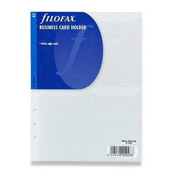 Obrázek produktu Pouzdro na vizitky - náplň A5 k diářům Filofax