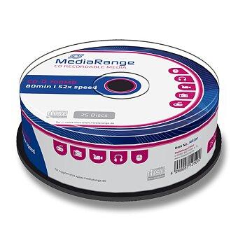 Obrázek produktu Zapisovatelné CD MediaRange CD-R - 700 MB, 25 ks spindle