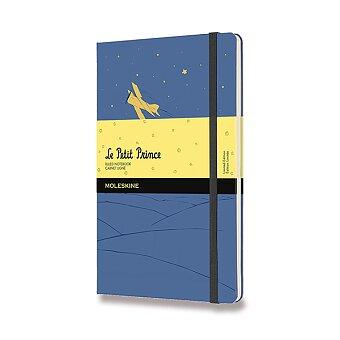 Obrázek produktu Zápisník Moleskine Le Petit Prince - tvrdé desky - L, linkovaný, modrý
