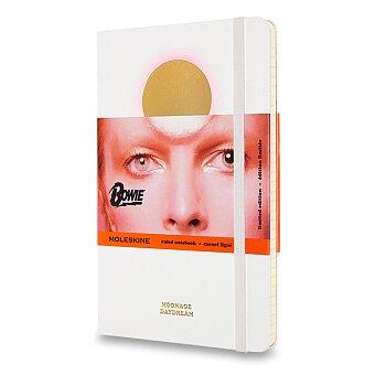 Obrázek produktu Zápisník Moleskine David Bowie - tvrdé desky - L, linkovaný, bílý