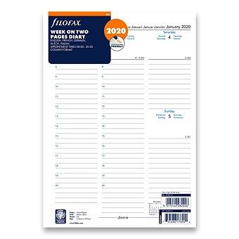 Obrázek produktu Týdenní kalendář 2020, 5 jazyků - náplň A4 diářů Filofax