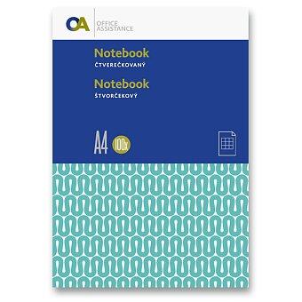 Obrázek produktu Záznamní kniha OA - A4, 100 listů, čtvereček