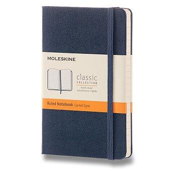 Obrázek produktu Zápisník Moleskine - tvrdé desky - S, linkovaný, modrý