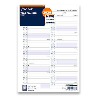 Obrázek produktu Roční plánovací kalendář 2020, Aj - náplň A4 diářů Filofax