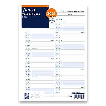 Obrázek produktu Roční plánovací kalendář 2021, Aj - náplň A4 diářů Filofax