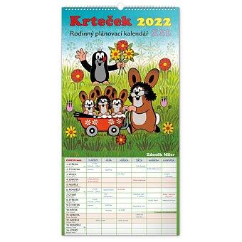 Obrázek produktu Krteček - rodinný plánovací XXL 2022 - nástěnný kalendář