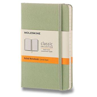 Obrázek produktu Zápisník Moleskine - tvrdé desky - S, linkovaný, zelený