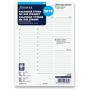 Obrázek produktu Týdenní kalendář 2019, Čj - náplň A5 diářů Filofax