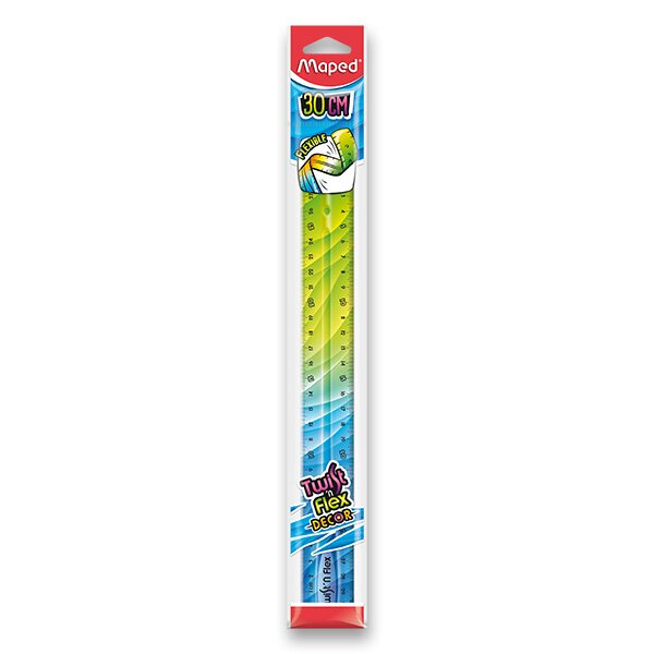 Pravítko Twint´n Flex duhové 30 cm, mix barev