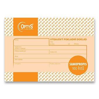 Obrázek produktu Výdajový pokladní doklad Optys 1083 - A6, samopropis