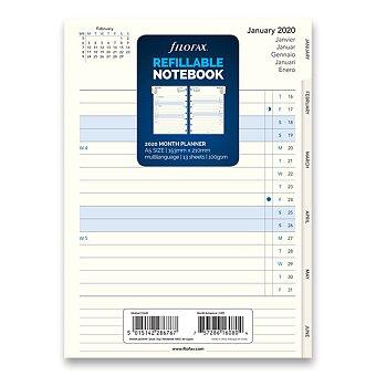 Obrázek produktu Měsíční kalendář 2020 - náplň A5 zápisníků Filofax Notebook