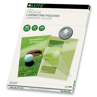 Obrázek produktu Laminovací kapsa Leitz iLam UDT A3 - 80 mikronů, 100 ks, čirá