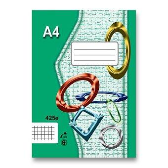 Obrázek produktu Školní sešit EKO 425 - A4, čtverečkovaný, 20 listů
