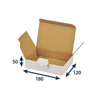 Product image White postal boxes - 180 × 120 × 50 mm