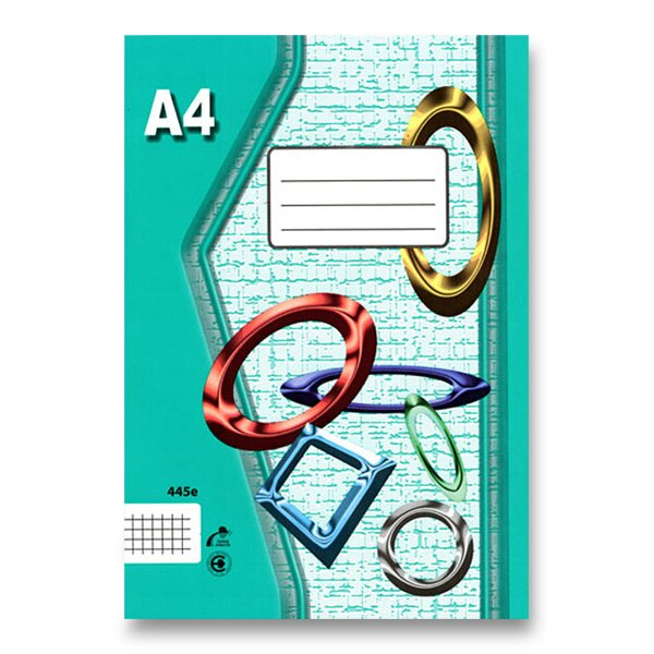 Školní sešit EKO 445 A4, čtverečkovaný, 40 listů