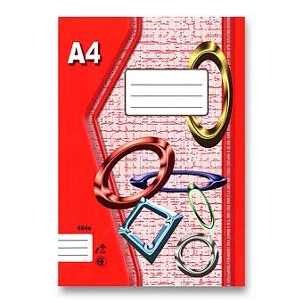 Obrázek produktu Školní sešit EKO 464 - A4, linkovaný, 60 listů