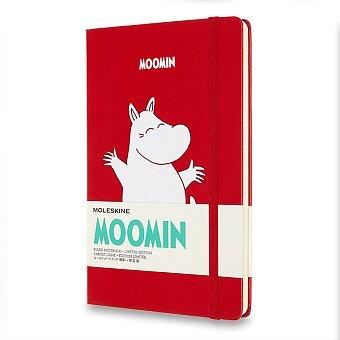 Obrázek produktu Zápisník Moleskine Moomin - L, linkovaný, červený