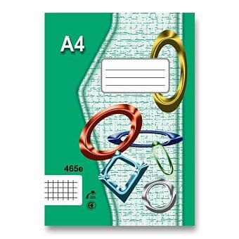 Obrázek produktu Školní sešit EKO 465 - A4, čtverečkovaný, 60 listů