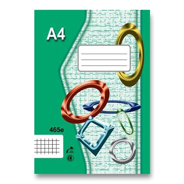 Školní sešit EKO 465 A4, čtverečkovaný, 60 listů