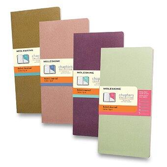 Obrázek produktu Notes Moleskine Chapters - S, linkovaný, výběr barev