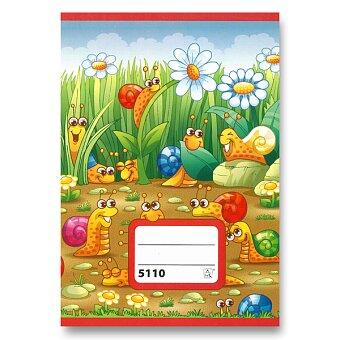 Obrázek produktu Školní sešit 5110 - A5, čtverečkovaný, 10 listů
