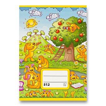 Obrázek produktu Školní sešit 512 - A5, linkovaný 16 mm, 10 listů