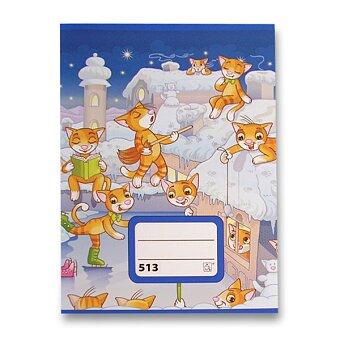 Obrázek produktu Školní sešit 513 - A5, linkovaný 12 mm, 10 listů