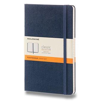 Obrázek produktu Zápisník Moleskine - tvrdé desky - L, linkovaný, modrý