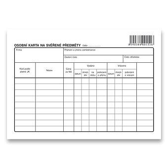 Obrázek produktu Osobní karta na svěřené předměty Optys 1151 - A5, 1 list