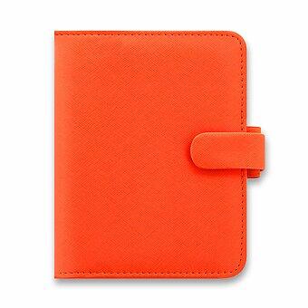 Obrázek produktu Kapesní diář Filofax Saffiano A7 - oranžový