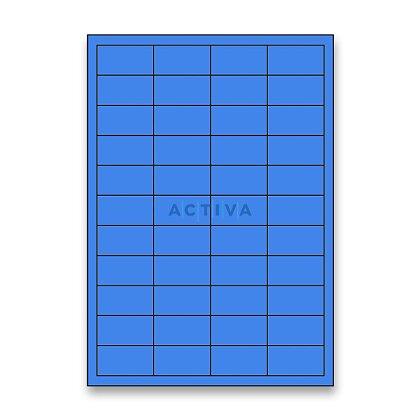 Obrázek produktu Rayfilm - samolepicí etikety - 48,5 x 25,4 mm, 4400 etiket, modré