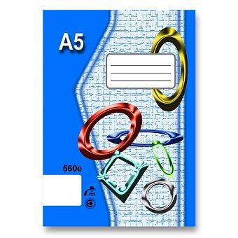Obrázek produktu Školní sešit EKO 560 - A5, čistý, 60 listů