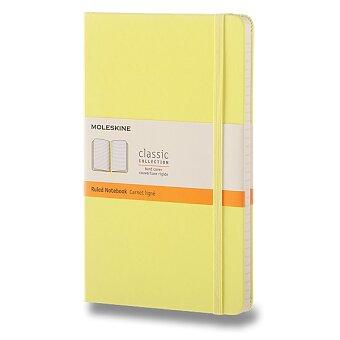 Obrázek produktu Zápisník Moleskine - tvrdé desky - L, linkovaný, žlutý