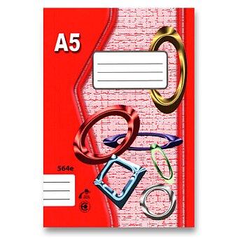 Obrázek produktu Školní sešit EKO 564 - A5, linkovaný, 60 listů