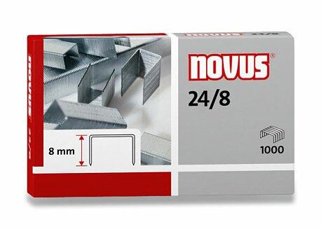 Obrázek produktu Drátky do sešívaček Novus 24/8 - na 25 listů, 1000 ks