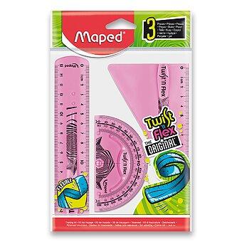 Obrázek produktu Sada pravítek Maped Twist´n Flex - 3dílná sada, mix barev