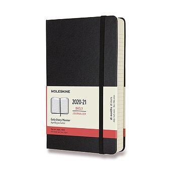 Obrázek produktu 18měsíční diář Moleskine 2020-21 - tvrdé desky - L, denní, černý